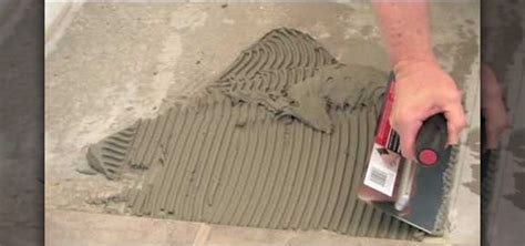 How to Install ceramic tile on concrete using thinset