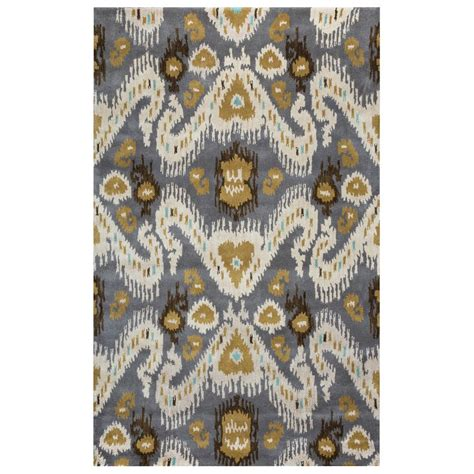 grey ikat rug rizzy home volare grey ikat tufted wool 3 ft x 5 ft area rug volvo508700330305 the home