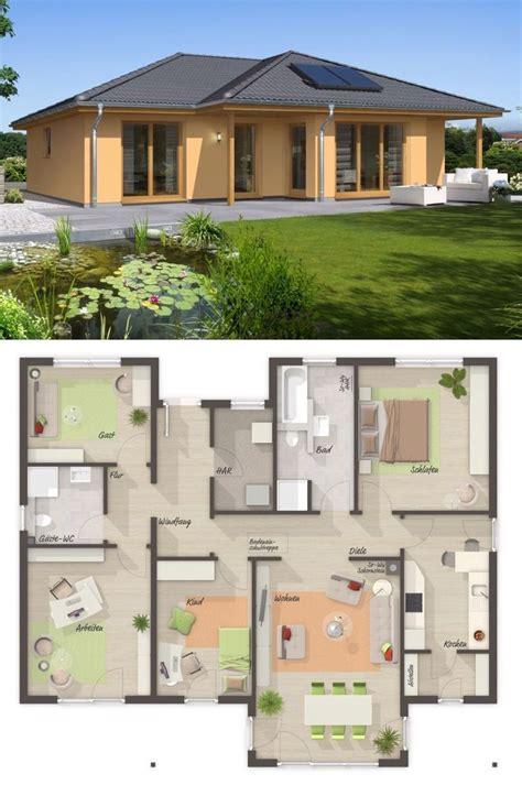 bungalow haus mediterran mit walmdach architektur