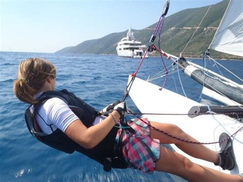 sailing dinghy greece sailing with flying fish in vassiliki greece dinghy