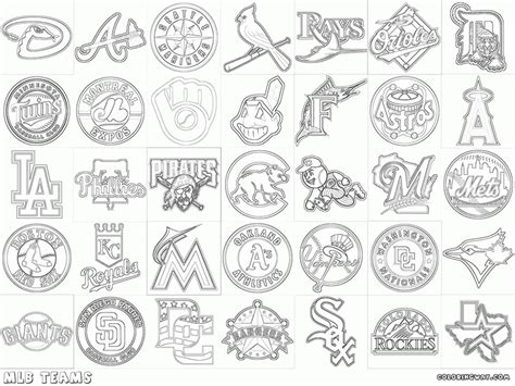 baseball coloring pages mlb aecost net aecost net