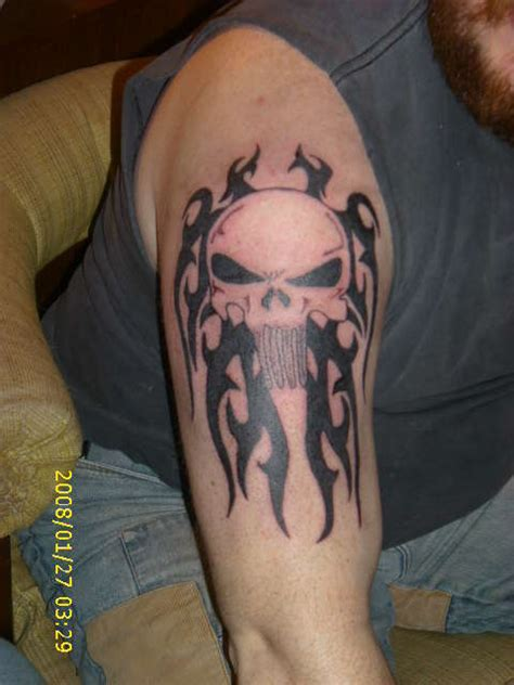 punisher tribal tattoo tribal punisher symbol