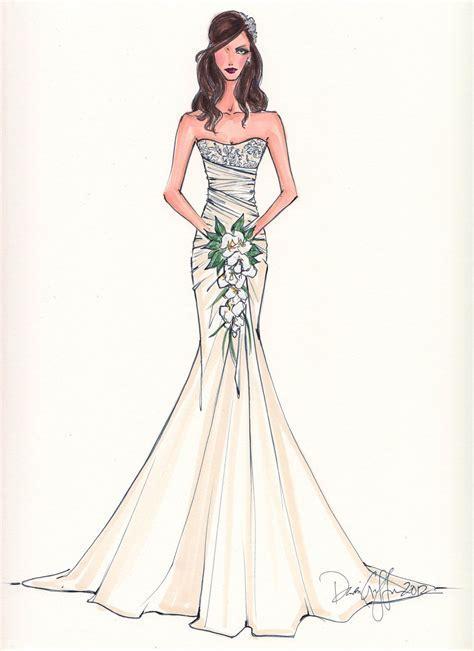 Custom Bridal Illustration. $165.00, via Etsy.   ART