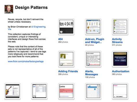 design pattern for ui user interface galleries balsamiq support portal