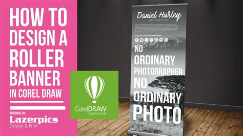 banner design in coreldraw x7 how to design a roll up banner in coreldraw x8 x7 x6 x5