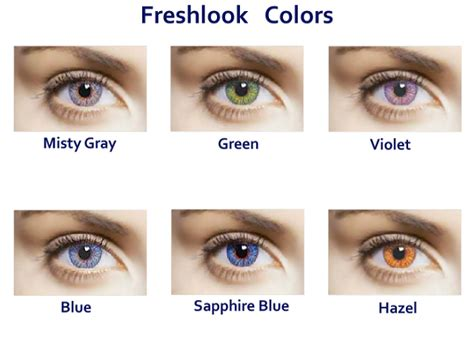 options comfort one day contact lenses freshlook colors ilense