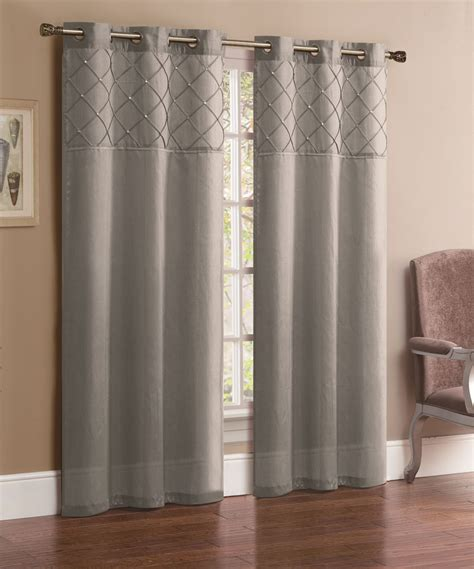 Silver Window Curtains Pair Of Silver Faux Silk Window Curtain Panels W Grommets Ebay