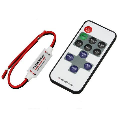led light strips with remote mini led dimmer 12v wireless remote controller light