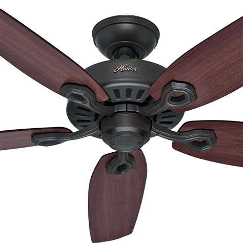 hunter builder elite 52 in indoor new bronze ceiling fan builder elite ceiling fan in new bronze 52 quot hunter