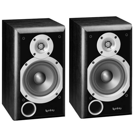 infinity 174 primus p153bk bookshelf speakers 100 watts