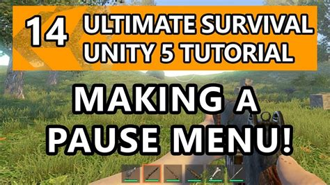 tutorial unity survival 14 unity tutorial how to make a survival game making