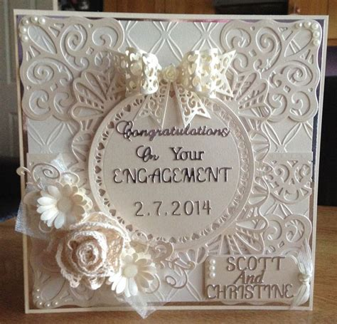 Handmade Engagement Card - make a greeting handmade card for engagement with these