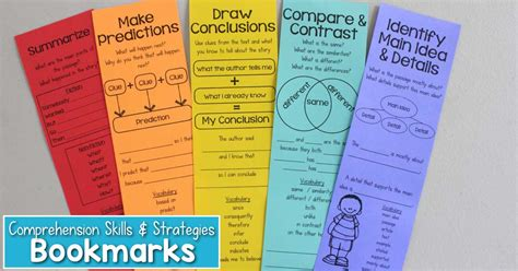 printable good reader bookmarks reading comprehension bookmarks to support academic language