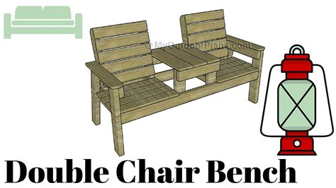 double benching double chair bench with table plans youtube