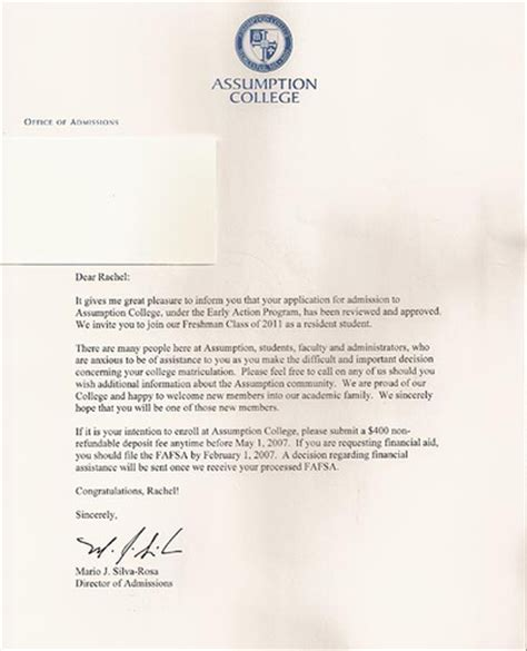 Offer Letter Lambton College college acceptance letter quiltdogg1 flickr