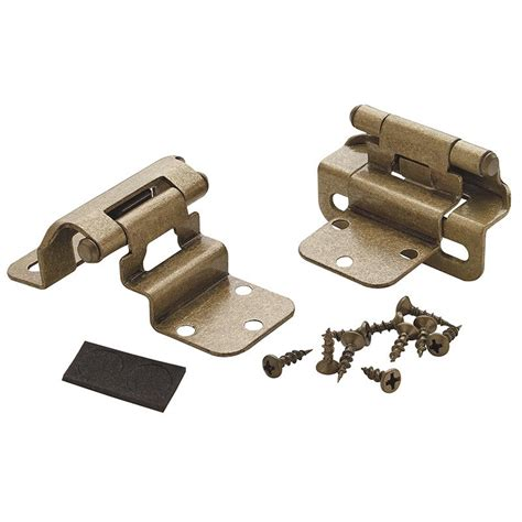 3 8 inset partial wrap cabinet hinges amerock decorative cabinet and bath hardware bpr7565bb