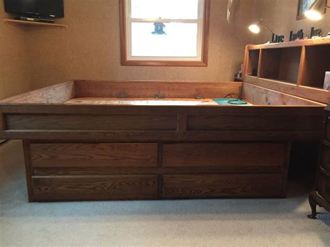 waterbed bedroom furniture california king size waterbed frame with large dresser drawers usedfurniture
