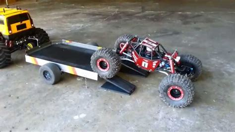 rc car and boat trailer for sale custom made rc trailer for my e maxx hummer youtube