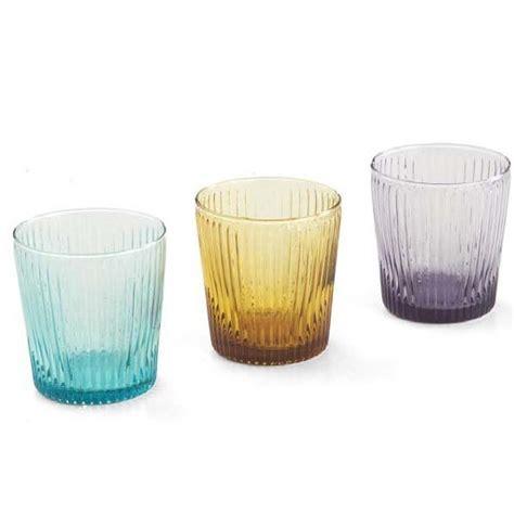 bicchieri vetro colorati bicchieri vetro colorati set 6 bicchieri da acqua
