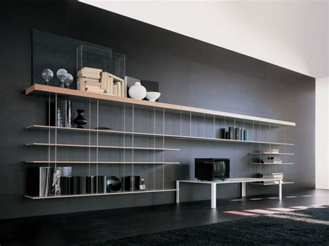 ufficio pra modena muebles tv integrados con biblioteca 75 ideas modernas