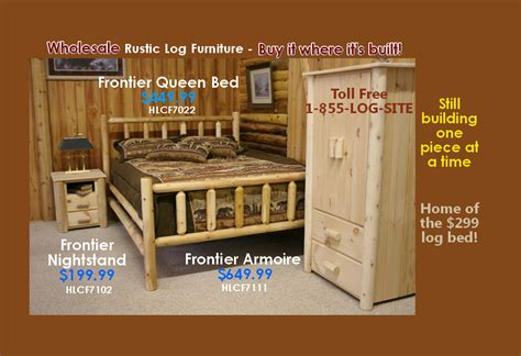 Log furniture rustic log beds nationwide wholesale cabin amp commercial