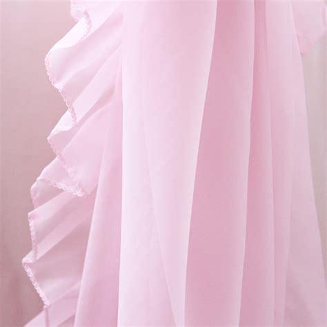 hot pink ruffle shower curtain ruffle chic sheer curtain set