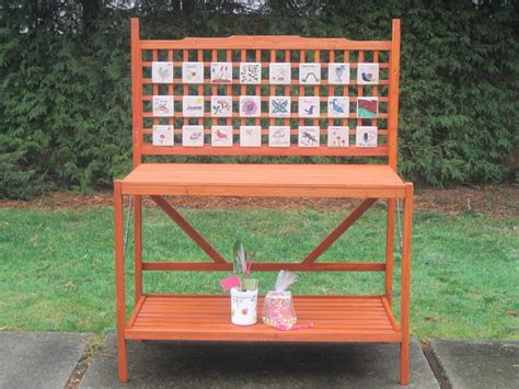 bench kids ca potting bench kids made the tiles school auction