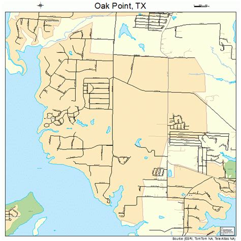 oak texas map oak point texas map 4853130