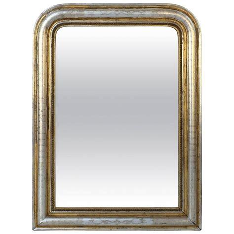 gold and silver mirror large louis philippe silver and gold banded mirror h 34 1