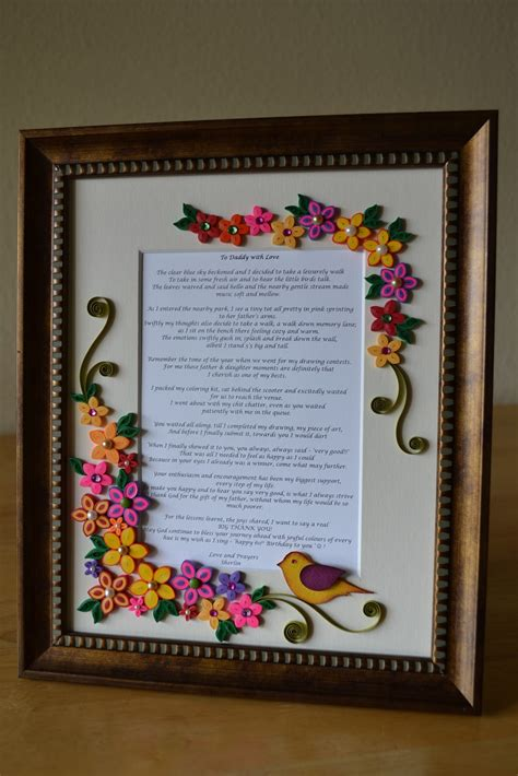Handmade Quilling Frames - quilling ideas custom made quilled frame