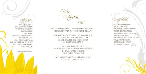 Hochzeitseinladung 3 Teilig hochzeitseinladung modernes sonnenblumen design