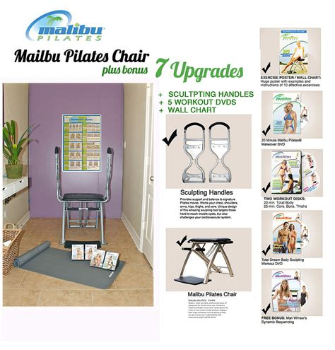 pilates malibu chair exercises malibu pilates chair with 4 workouts exercise chart html