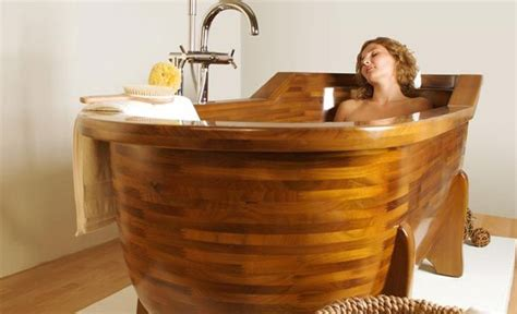 wooden bathtub wood made bathtubs by stolis turn your bathroom into a spa