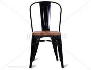 Tolix chair replica timber wood seat by xavier pauchard black