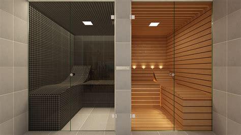 effegibi bespoke sauna  steam room  glass front