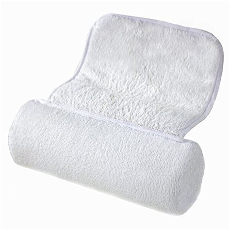 bath pillow shoulders neck cushioned support soft