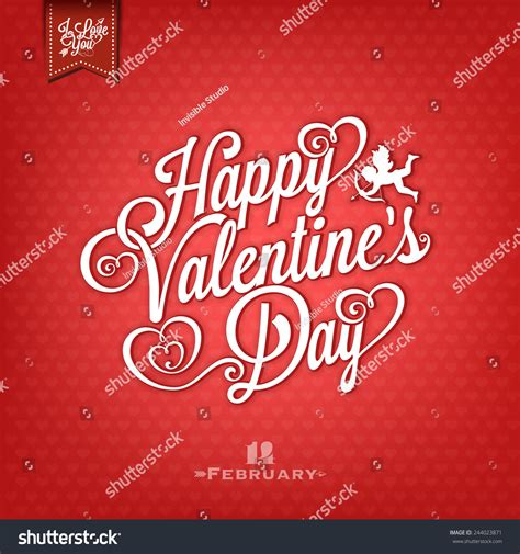 vintage happy valentines day happy valentines day vintage drawing stock vector