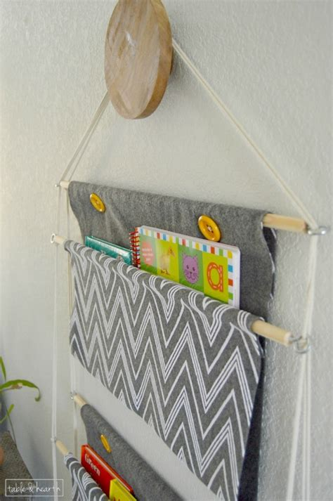 diy hanging book holder   creative