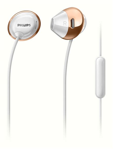 Philips Earphone With Mic She 1355 Wt White flite headphones with mic she4205wt 00 philips