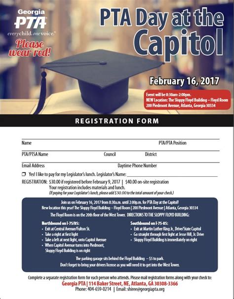 pta membership card template 2017 pta day at the capitol 2017 pta every child