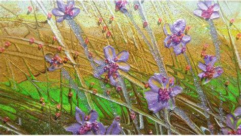 quadri di fiori moderni paesaggio piccolo con fiori vendita quadri