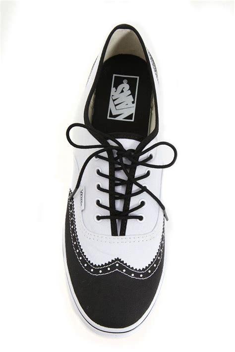 oxford vans shoes vans white and black oxford wingtip authentic lo pro lace