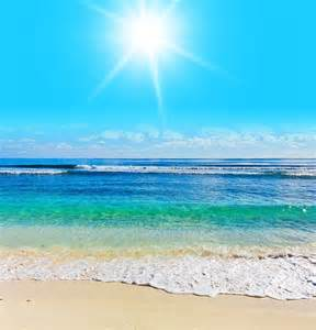 Beach Scene Wall Murals Wall Mural Beach Scene Sea Ocean Water Summer Sun Rays By