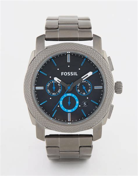 Fossil Ss fossil machine in stainless steel in metallic for lyst