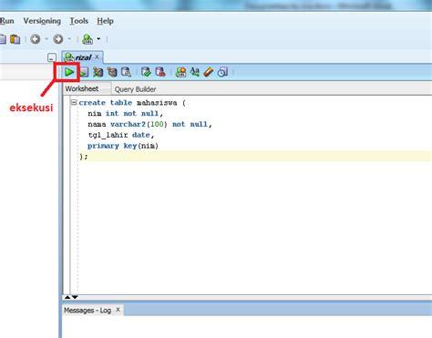 query membuat tabel sql tutorial oracle belajar oracle untuk pemula part i