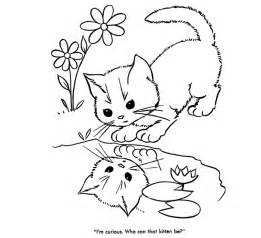 Cute cartoon baby animals coloring pages cute baby cats coloring
