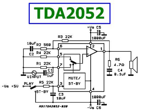 Audio Ic Tda 2052 St 60w tda2052 datasheet 60w hi fi audio power lifier st