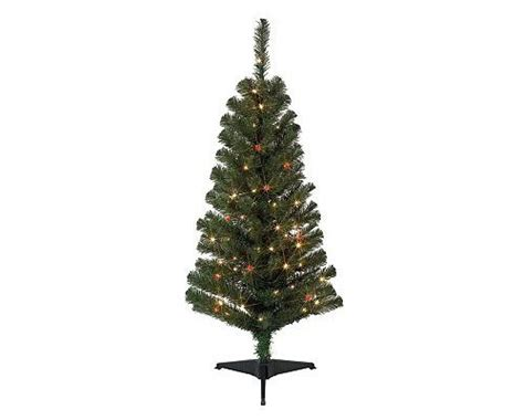 no assembly required christmas tree 4ft pre lit noble fir tree 4 foot pre lit artificial fir tree 125 branch tips 50