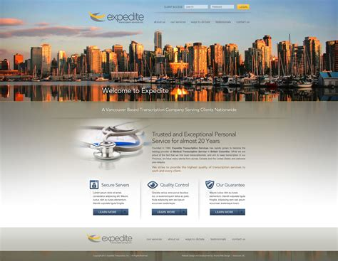 business web design homepage vancouver business web design