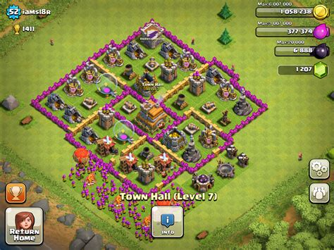 layout level 7 town hall best defense layout town hall level 7 memes